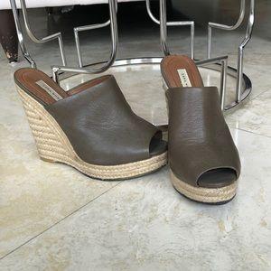 Zara Woman - Brown Taupe Wedge Heels - Size 39 / 8